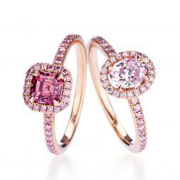 Пръстени с цветни диаманти