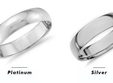 Как да намерим разлика между пръстен от платина и пръстен от сребро?