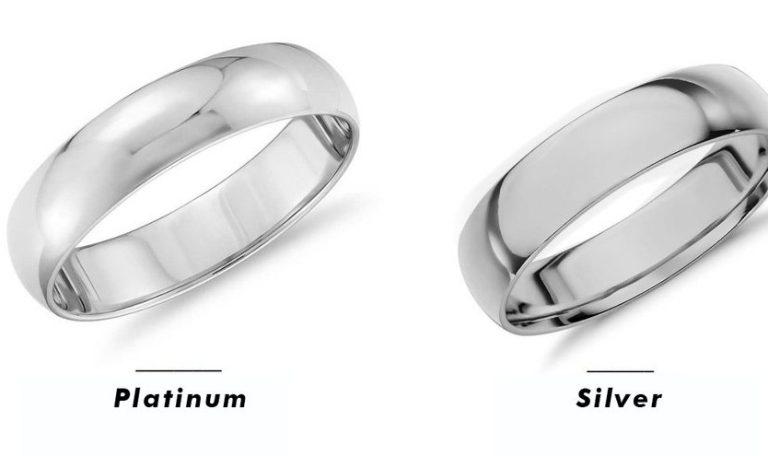 пръстен от платина и пръстен от сребро